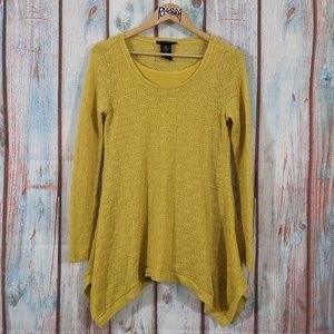 💎 Grace Elements A Line Layered Sweater Yellow S